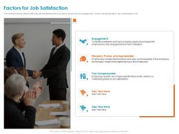 Factors For Job Satisfaction Fair Compensation Ppt Powerpoint Presentation Gallery Tips