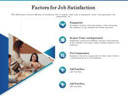 Factors For Job Satisfaction Ppt Powerpoint Presentation Portfolio Grid