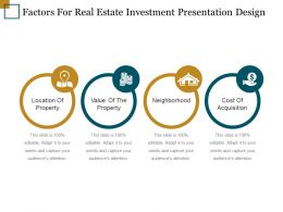 Factors For Real Estate Investment Presentation Design