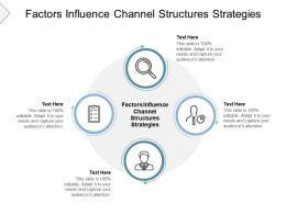 Factors Influence Channel Structures Strategies Ppt Powerpoint Presentation Styles Slides Cpb