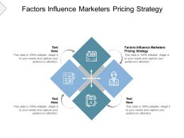 Factors Influence Marketers Pricing Strategy Ppt Powerpoint Presentation Model Examples Cpb