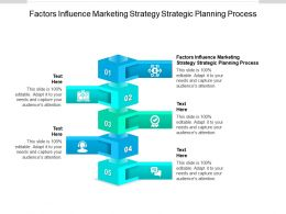 Factors Influence Marketing Strategy Strategic Planning Process Ppt Powerpoint Presentation Professional Cpb