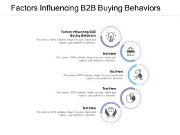 Factors Influencing B2B Buying Behaviors Ppt Powerpoint Presentation Layouts Outline Cpb
