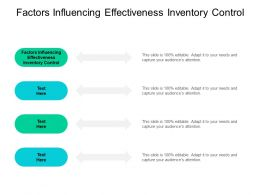 Factors Influencing Effectiveness Inventory Control Ppt Powerpoint Ideas Cpb