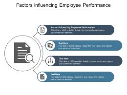 Factors Influencing Employee Performance Ppt Powerpoint Presentation Infographics Templates Cpb