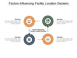Factors Influencing Facility Location Decision Ppt Powerpoint Presentation Download Cpb