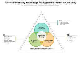 Factors Influencing Knowledge Management System In Company