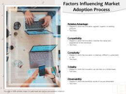 Factors Influencing Market Adoption Process