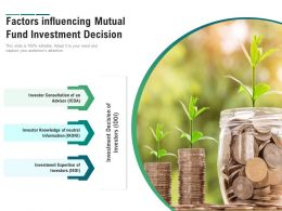Factors Influencing Mutual Fund Investment Decision