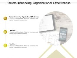 Factors Influencing Organizational Effectiveness Ppt Powerpoint Presentation Show Slideshow Cpb
