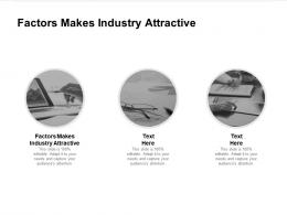 Factors Makes Industry Attractive Ppt Powerpoint Presentation Icon Themes Cpb