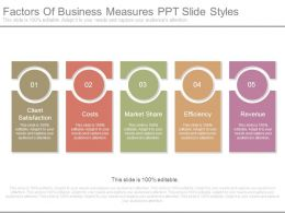 Factors Of Business Measures Ppt Slide Styles