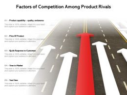 Factors Of Competition Among Product Rivals