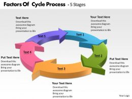 Factors Of Cycle Process 5 Stages powerpoint Slides templates