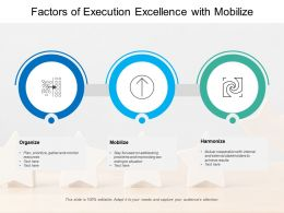 Factors Of Execution Excellence With Mobilize
