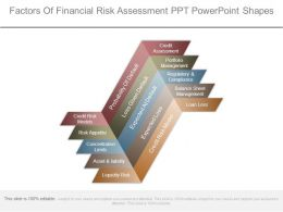 Factors Of Financial Risk Assessment Ppt Powerpoint Shapes