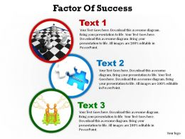 factors of success shown with circles ppt slides presentation diagrams templates powerpoint info graphics