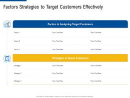 factors strategies to target customers effectively ppt infographics