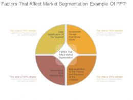 Factors That Affect Market Segmentation Example Of Ppt