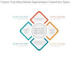 Factors That Affect Market Segmentation Powerpoint Topics