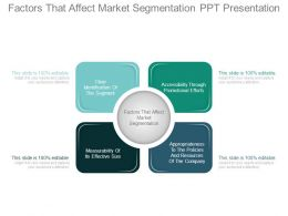 Factors That Affect Market Segmentation Ppt Presentation