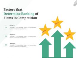 Factors That Determine Ranking Of Firms In Competition