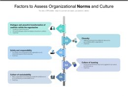 Factors To Assess Organizational Norms And Culture
