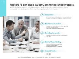 Factors To Enhance Audit Committee Effectiveness