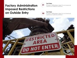 Factory Administration Imposed Restrictions On Outside Entry
