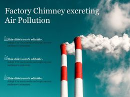 Factory Chimney Excreting Air Pollution