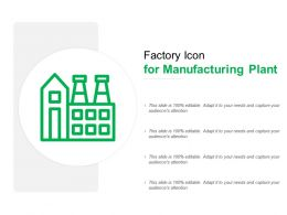 Factory Icon For Manufacturing Plant