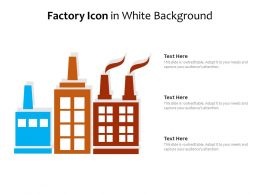 Factory Icon In White Background