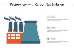 Factory Icon With Carbon Gas Emission
