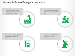 Factory Nuclear Reactor Petrol Pump Satellite Ppt Icons Graphics