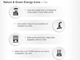 Factory Pollution Green Energy Ppt Icons Graphics