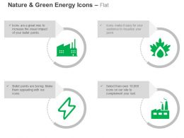 Factory Power Symbol Refinary Production Ppt Icons Graphics