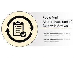 Facts And Alternatives Icon Of Bulb With Arrows