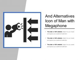 Facts And Alternatives Icon Of Man With Megaphone