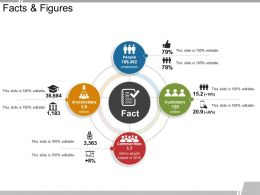 Facts And Figures Powerpoint Shapes