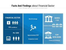 Facts And Findings About Financial Sector