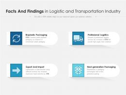 Facts And Findings In Logistic And Transportation Industry