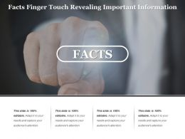 Facts Finger Touch Revealing Important Information