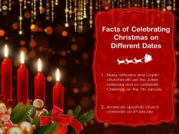 Facts Of Celebrating Christmas On Different Dates