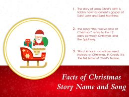 Facts Of Christmas Story Name And Song
