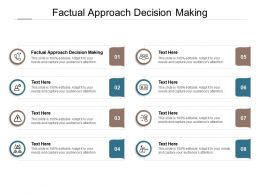 Factual Approach Decision Making Ppt Powerpoint Presentation Icon Maker Cpb