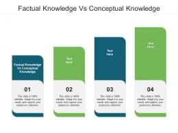 Factual Knowledge Vs Conceptual Knowledge Ppt Powerpoint Presentation Pictures Slide Cpb