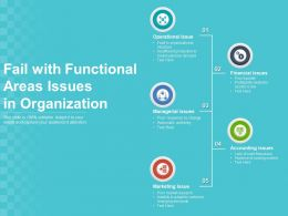 Fail With Functional Areas Issues In Organization