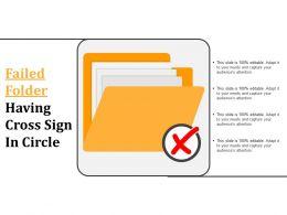 Failed Folder Having Cross Sign In Circle