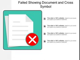 Failed Showing Document And Cross Symbol