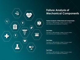 Failure Analysis Of Mechanical Components Ppt Powerpoint Presentation Layouts